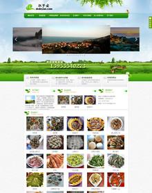 绿色渔村农家乐织梦企业模板