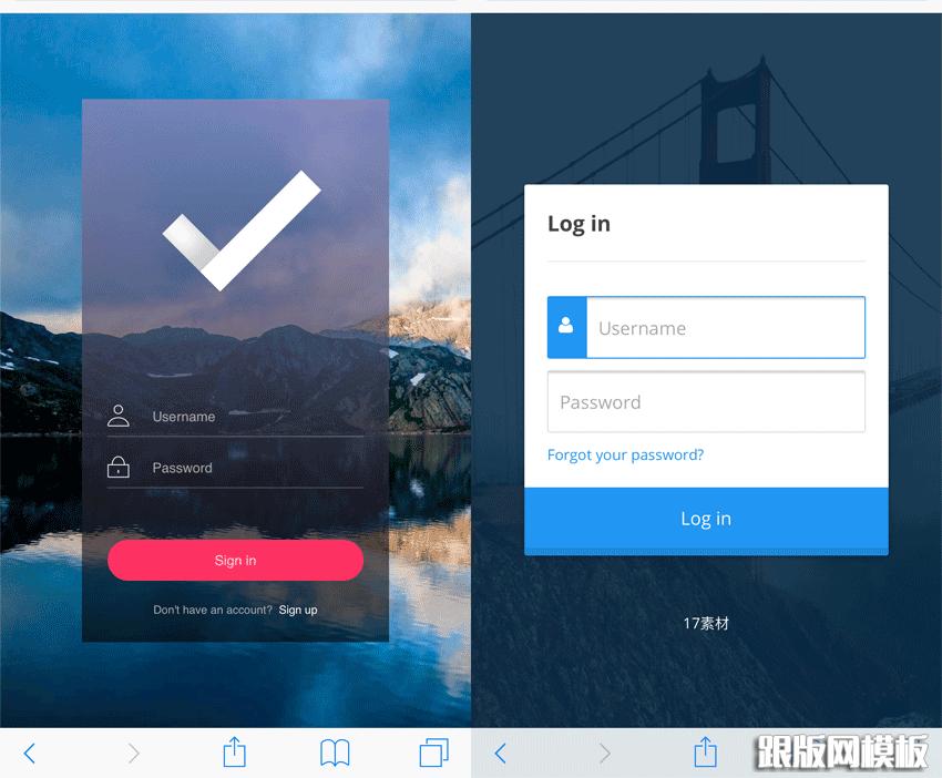 模板使用说明html5 css3手机用户登录页面模板,有需要的朋友下载使用