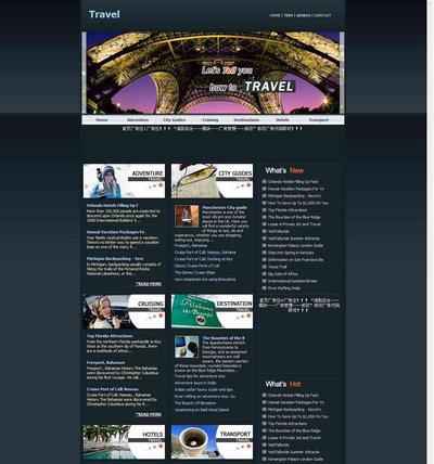 dedecms英文旅游网站源码-精品英文网站