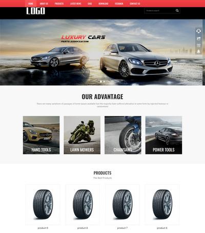 英文外贸汽车配件销售展示类网站模板