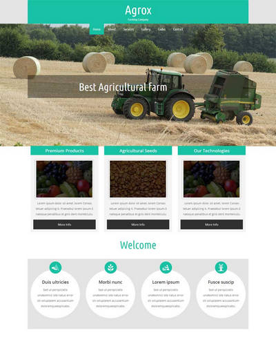 农业生产公司网站html5动画模板