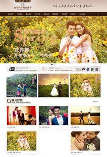 织梦拉菲国际婚纱摄影网站模板