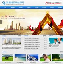 精品大气高端蓝色企业网站模板