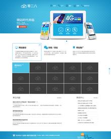 最新高端大气广告设计公司网站模板