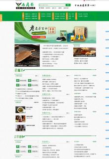 绿色大气行业门户网站织梦模板