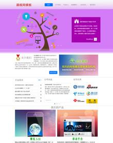 移动互联网软件产品与营销服务网站织梦源码