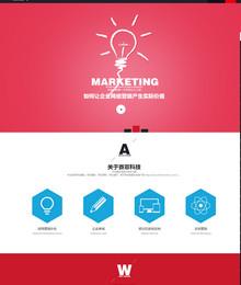非常大气的HTML5织梦网络公司企业网站模版