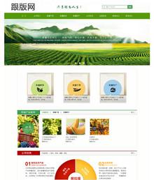 农业绿色生态水果企业dede源码-绿色风格织梦企业模板