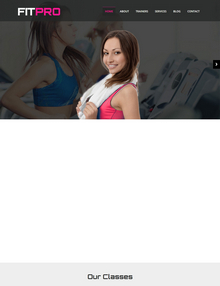 html5宽屏大气自适应健身俱乐部模板