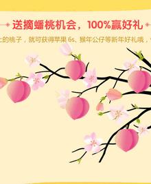 纯css3树枝上摇摆的桃子动画特效