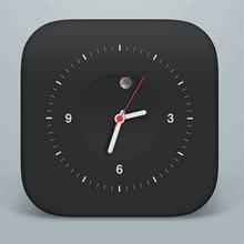 html5 css3黑色的圆形时钟代码