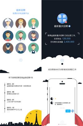html5炫酷手机微信招聘宣传页面模板下载