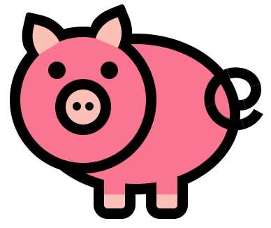 纯css3绘制可爱的小猪猪样式代码