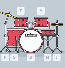 html5 svg绘制电子鼓打击音乐特效