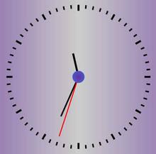 js html5制作简易的时钟表代码