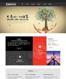 黑色大气金融投资企业网站织梦模板