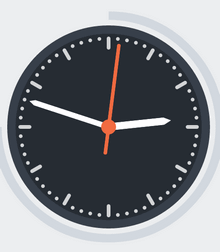 纯css3 animation属性圆形动态时钟特效