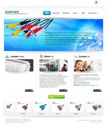 英文外贸数据线电子原件公司网站模板