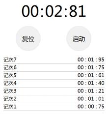 JQuery仿苹果秒表计时器计时代码