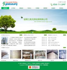 整洁绿色能源环保检测健康类企业网站模板
