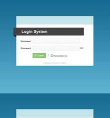 简洁弹出式网页键盘后台登录页面模板