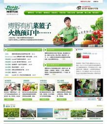 绿色食品企业DEDE模板|绿色食品网站源码
