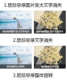 常用的5种纯css3鼠标滑过图片动画效果