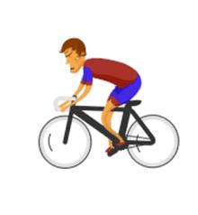 纯css3 2016奥运会小人骑自行车动画特效