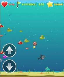 HTML5海底冒险游戏《疯狂的鲨鱼》源码