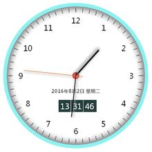 html5 css3带日期的圆形数字电子时钟代码