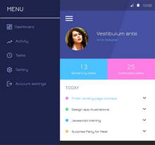 扁平风格的手机app社交软件界面