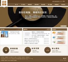 带手机网站的企业管理类通用企业织梦dedecms模板