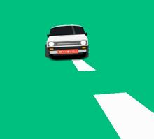 纯css3道路上行驶汽车动画特效