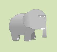 纯css3绘制大象走路动画特效