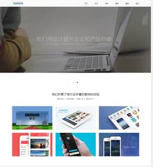 简洁大气响应式自适应手机版网络建站工作室公司织梦模板