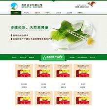 营销型药品药业科技类网站织梦模板带手机站