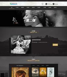高端摄影设计类网站源码 PS设计摄影网站织梦模板带手机站