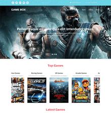 国外宽屏的单机游戏网站介绍html模板下载