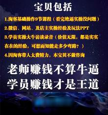 2017淘宝客推广培训淘客项目教程教学 最近火到掉渣的火爆淘宝客
