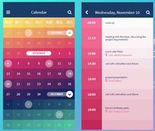 纯css3彩色的日历行程事项代码
