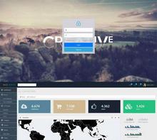 黑色扁平化网站管理系统通用后台