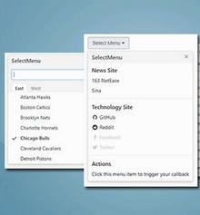 jQuery selectmenu带搜素下拉框选择菜单插件