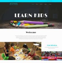 简单儿童绘画教育网站模板