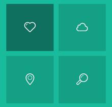jQuery css3点击图标导航弹出页面动画特效