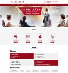 响应式自适应税务筹划代理公司登记代理网站织梦模板