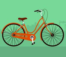 svg自行车行驶动画特效