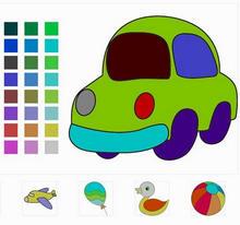 html5 canvas益智类填色画游戏代码