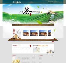 茶叶基地种植类网站织梦模板(带手机端)