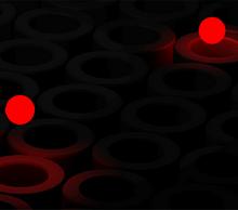 html5 canvas绘制管道里跳动小球动画特效