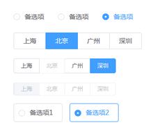vue基于element-ui单选按钮美化插件